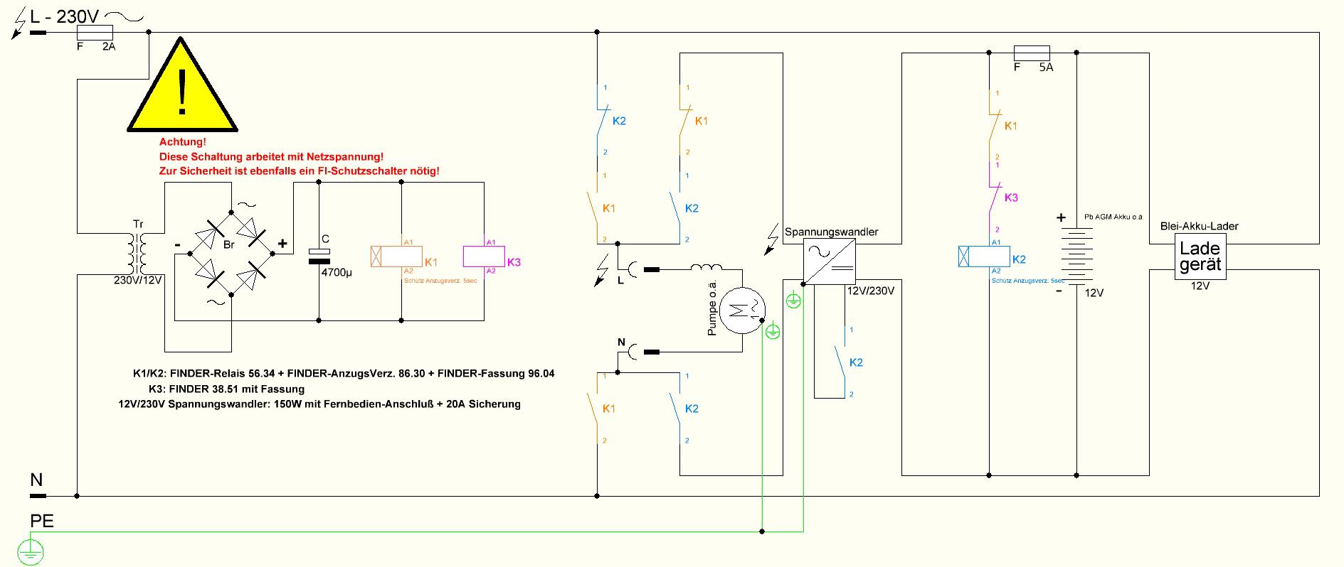 Großartig Wechselrichter 12 Volt Schaltplan Zeitgenössisch - Die ...